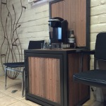 multipurpose metal and wood cabinet image