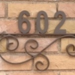 metl house numbers sign image