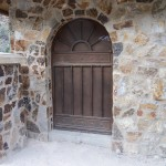 arched metal door image