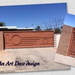 art deco metal matching gates image