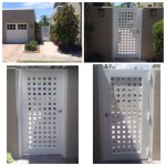white metal checkered gate image