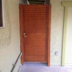 brown side gate metal door image