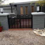black side gate for patio image