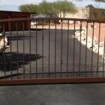 spiral brown gate driveway design image