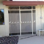 tan quail design screen door image