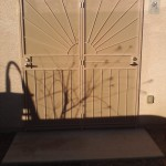 tan sun design double screen door image