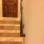 smooth metal handrail stairs image