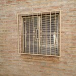 metal tan window guard with design image