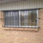 metal window guard with design image
