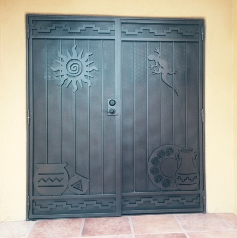 double screen doors with southern design image & Tucson Security Screen Doors and Gates | The Larger Company