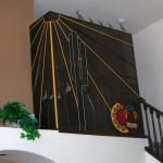 black colorful metal balcony guard image