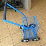 blue shopping cart metal image