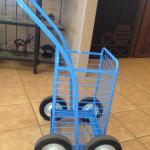 metal blue shopping cart image
