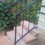 stairway handrails metal image