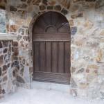 arched metal door image