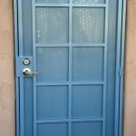 blue checkered design screen door image