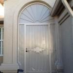 tan quail design screen door and enclosure image