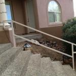 metal handrails on stairway image
