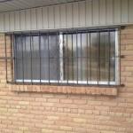 metal window guard with design image