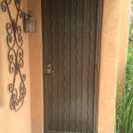 straight and wavy stripes design screen door image