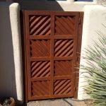 corrugated custom metal gate for yard image
